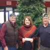 "Post 214 donates $200 to the Darlington Middle School ""Christmas Giving Tree"".  From left to right are Post 214 members Bob Schultz, Harold Douglas, Middle School Guidance Counselor Lori Nodorft and Legion Member Randy Minder."