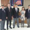 Sunday January 29, 2017, 3rd District American Legion held its American Legion Oratorical Scholarship Contest at the Barneveld Legion Post.  Darlington's very own Josh Weaver won.  Pictured L to R: Dan O'Brien, Josh Weaver, Harold Rihn, Lucy Trann, Paul Budden.