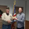 Post Commander Dave Gough and Darlington Senior Josh Weaver.  Josh just completed his 4th year of participating in The American Legion Oratorical Scholarship Program a the Post level.  Commander Dave is presenting Josh with a Scholarship Check for $100.